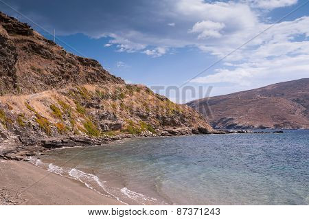Greek Beach On Andros