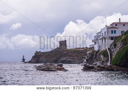 Lighthouse In Andros