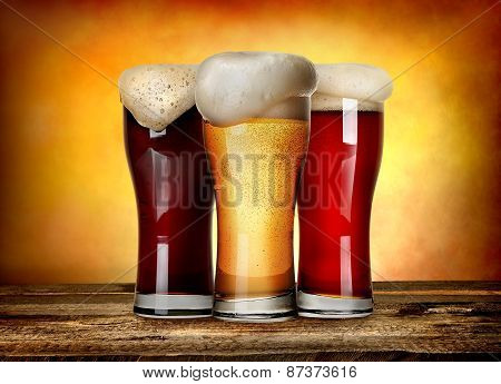 Three sorts of beer