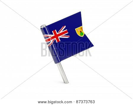 Flag Pin Of Turks And Caicos Islands