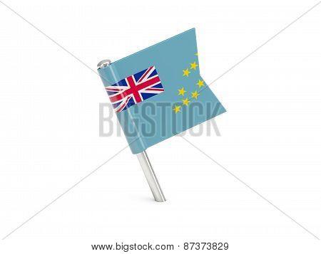 Flag Pin Of Tuvalu