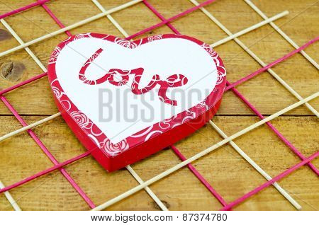 Heart Shaped Box On A Decorated Table