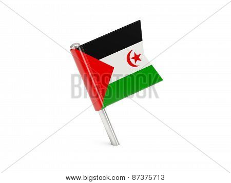 Flag Pin Of Western Sahara