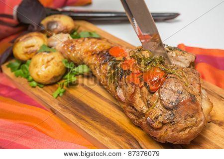 roasted leg of turkey