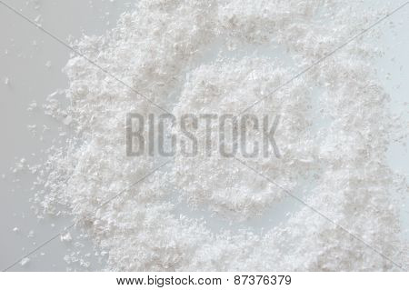 Artificial Snow On A White Background