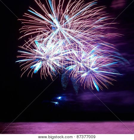 Colorful Holiday Fireworks