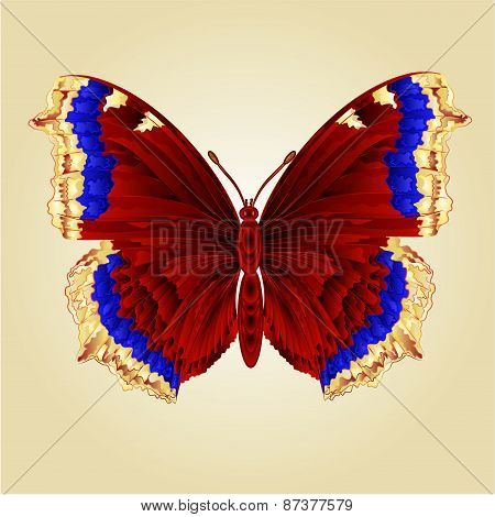 Butterfly Nymphalis Antiopa  Vector
