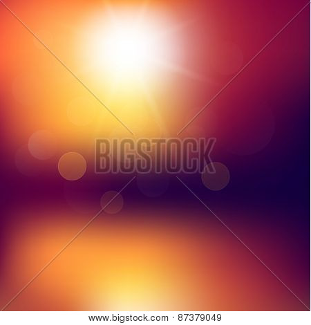 Abstract sunset background with defocused lights - eps10