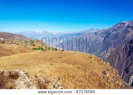 Arid Colca Canyon Landscape