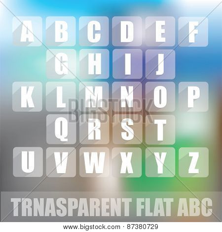 ABC - transparent flat design