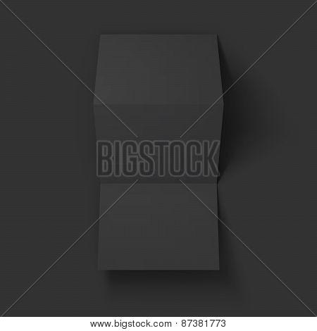 Blank trifold paper brochure mockup.