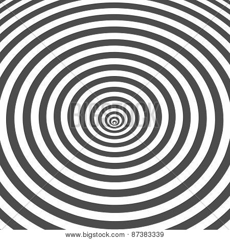 Striped black and white optical illusion background. Op art design.