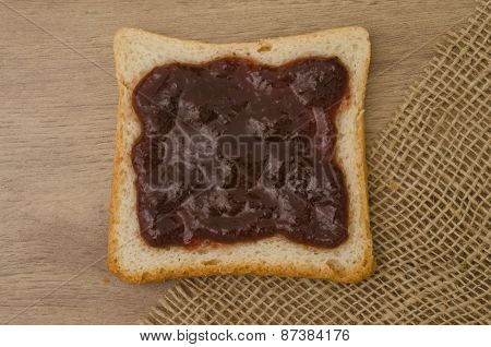 Strawberry Jam On Bread