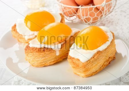 Fried eggs cookies