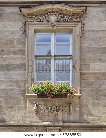 vintage home window, Bamberg Germany