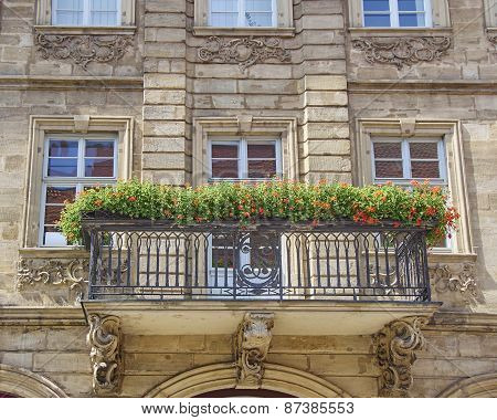 house balcony with flowers Bamberg Germany