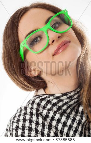 Young Lady In Glasses