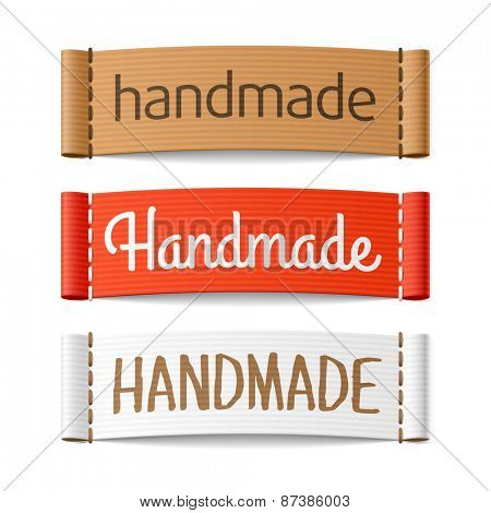 Handmade labels. Vector.