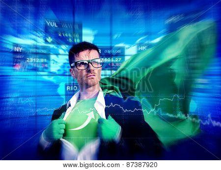 Arrow Strong Superhero Success Professional Empowerment Stock Concept