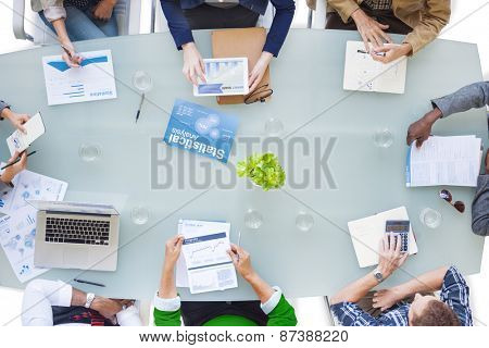 Group of Business People in a Meeting Concept