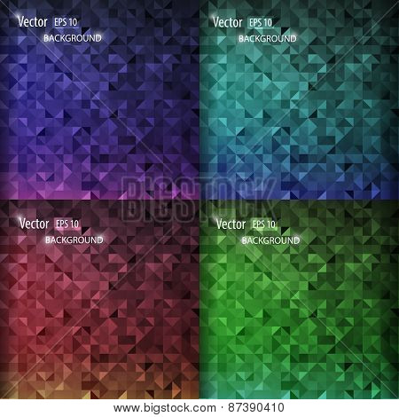 Smooth Abstract Colorful Backgrounds Set. Modern Design With Geometric Shapes