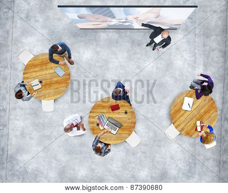 Business People Studying Presentation Team Support Concept
