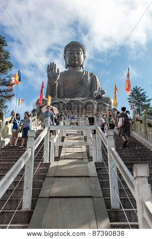 Hong Kong - 1 June 13:  Buddha Statue