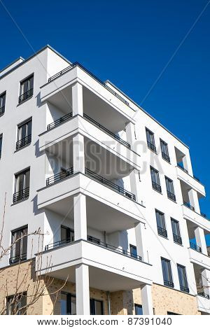 New white apartment house