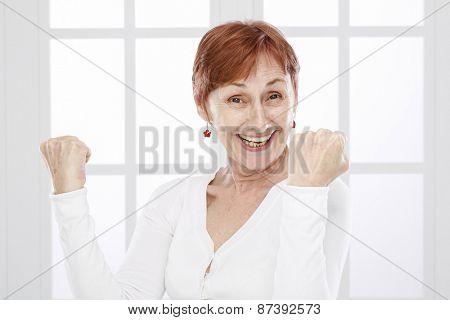 Senior woman and positive attitude