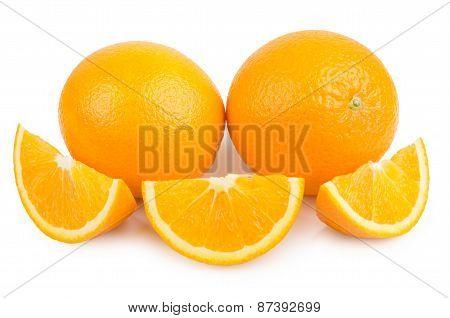 Two Orange And Few Slices