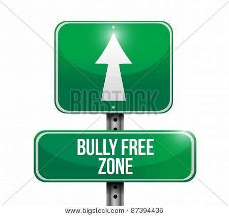 Bully Free Zone Road Sign Concept