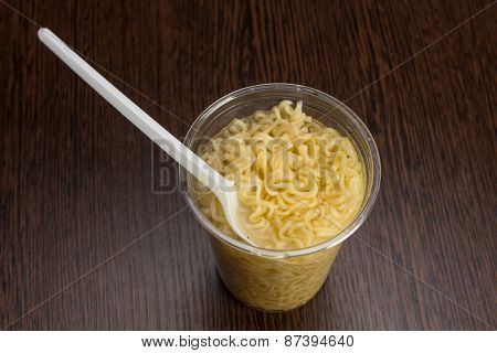 Instant Noodles In A Plastic Cup