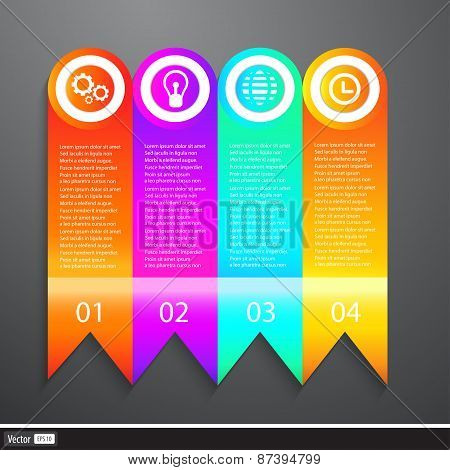 Vector Business Elements Infographics Tapes. Web Template - Web Page, Website Layout.