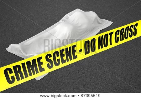 Dead Body Covered With Cloth