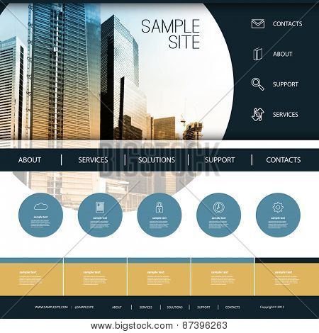 Website Design for Your Business with Skyscraper Background