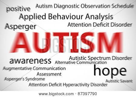 autism against white background with vignette