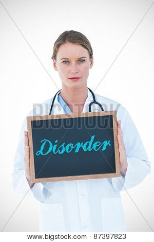 The word disorder against doctor showing chalkboard