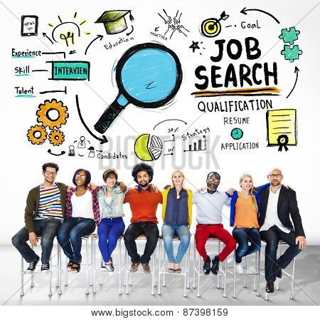 Diversity People Togetherness Friends Job Search Concept