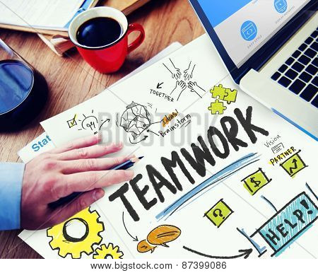 Teamwork Team Together Collaboration Working Office Workplace Concept