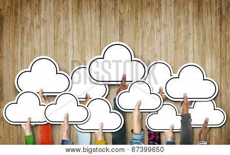 Cloud Diverse Diversity Ethnic Ethnicity Symbol Icon Unity Concept