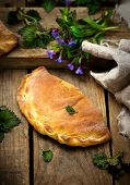 picture of nettle  - calzone with ricotta and nettle - JPG