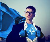 stock photo of radioactive  - Radioactive Strong Superhero Success Professional Empowerment Stock Concept - JPG