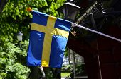 picture of sweden flag  - The blue and yellow flag of Sweden - JPG