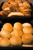 pic of bread rolls  - A bread basket filled with bread roll - JPG