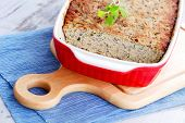stock photo of poultry  - homemade poultry pate with mushroom  - JPG