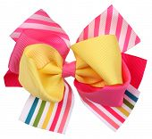 stock photo of bow tie hair  - Colorful crazy bow tie or hair bow - JPG