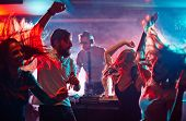 pic of club party  - Group of dancing friends enjoying night party - JPG