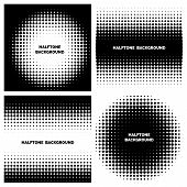 image of dots  - Abstract halftone backgrounds with text - JPG