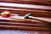 foto of lumber  - Interior wood working - JPG