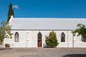 picture of south-western  - Hall of the Dutch Reformed Church in Laingsburg in the Western Cape Province of South Africa - JPG
